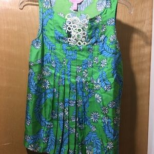 Lilly Pulitzer pleated blouse